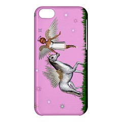 Unicorn And Fairy In A Grass Field And Sparkles Apple Iphone 5c Hardshell Case by goldenjackal