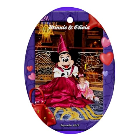 Disney Cruise 2013 6 By Monica Bell   Ornament (oval)   Lwfbsri00p6d   Www Artscow Com Front
