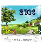 Shokov 2014 - Wall Calendar 11  x 8.5  (12-Months)