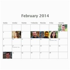 Shokov 2014 By Tania   Wall Calendar 11  X 8 5  (12 Months)   Deoomucaa97b   Www Artscow Com Feb 2014