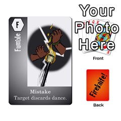 Fireknife 2 Of 2 By Peter Drake   Playing Cards 54 Designs   Pwza8qxy5gxy   Www Artscow Com Front - Club5