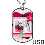 love - Dog Tag USB Flash (Two Sides)