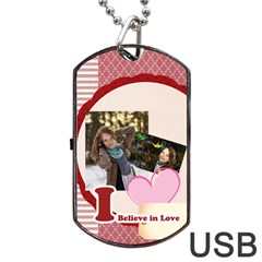 Love By Ki Ki   Dog Tag Usb Flash (two Sides)   A3ptfftv099b   Www Artscow Com Front