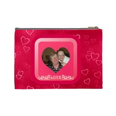 Love Large Cosmetic Bag By Joy Johns   Cosmetic Bag (large)   Psw2bq1ui6h7   Www Artscow Com Back