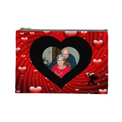 Love Large Cosmetic Bag 2 By Joy Johns   Cosmetic Bag (large)   Pv05ke6hlfcg   Www Artscow Com Front