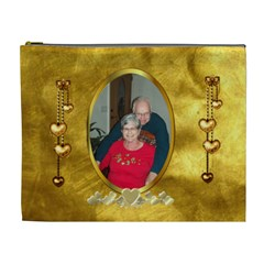 Golden Love Xl Cosmetic Bag By Joy Johns   Cosmetic Bag (xl)   Ciy4if1r9zt8   Www Artscow Com Front
