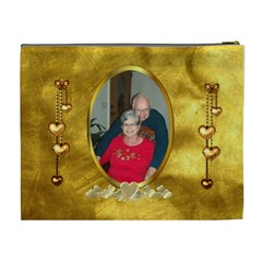 Golden Love Xl Cosmetic Bag By Joy Johns   Cosmetic Bag (xl)   Ciy4if1r9zt8   Www Artscow Com Back