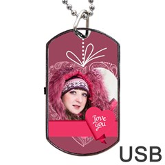 Love By Ki Ki   Dog Tag Usb Flash (two Sides)   Ca819qi2nuwe   Www Artscow Com Front