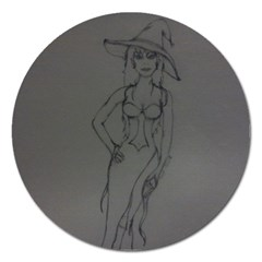 Witchy Magnet 5  (round) by WispsofFantasy