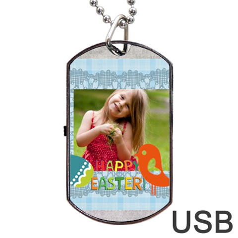 By Easter   Dog Tag Usb Flash (one Side)   I9v8ba5t8c8m   Www Artscow Com Front