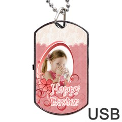 Easter By Easter   Dog Tag Usb Flash (two Sides)   Ef7lyi2pd3ea   Www Artscow Com Front