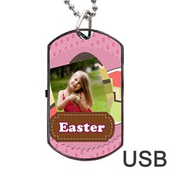 Easter By Easter   Dog Tag Usb Flash (two Sides)   0sbwky6d7dpx   Www Artscow Com Front