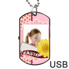 Easter By Easter   Dog Tag Usb Flash (two Sides)   Ztpt2ydvsdop   Www Artscow Com Front