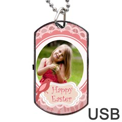Easter By Easter   Dog Tag Usb Flash (two Sides)   2dasbucdf4k3   Www Artscow Com Back