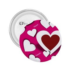 Valentine Hearts  2 25  Button by Colorfulart23