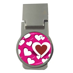 Valentine Hearts  Money Clip (round) by Colorfulart23