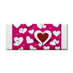 Valentine Hearts  Hand Towel by Colorfulart23