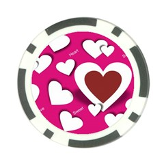 Valentine Hearts  Poker Chip (10 Pack) by Colorfulart23