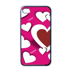 Valentine Hearts  Apple Iphone 4 Case (black) by Colorfulart23