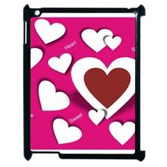 Valentine Hearts  Apple Ipad 2 Case (black) by Colorfulart23