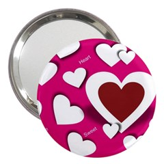 Valentine Hearts  3  Handbag Mirror by Colorfulart23
