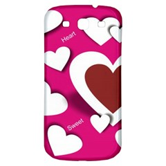Valentine Hearts  Samsung Galaxy S3 S Iii Classic Hardshell Back Case by Colorfulart23