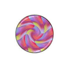 Colored Swirls Golf Ball Marker (for Hat Clip) by Colorfulart23