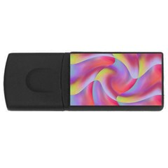 Colored Swirls 4gb Usb Flash Drive (rectangle) by Colorfulart23