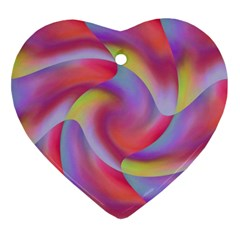 Colored Swirls Heart Ornament (Two Sides) by Colorfulart23