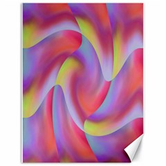 Colored Swirls Canvas 18  X 24  (unframed) by Colorfulart23