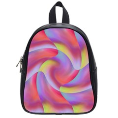 Colored Swirls School Bag (small) by Colorfulart23