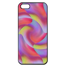 Colored Swirls Apple Iphone 5 Seamless Case (black) by Colorfulart23