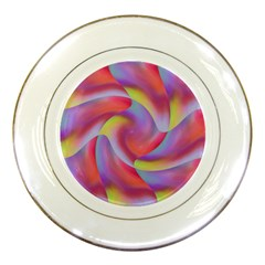 Colored Swirls Porcelain Display Plate by Colorfulart23