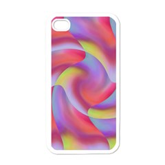 Colored Swirls Apple Iphone 4 Case (white) by Colorfulart23