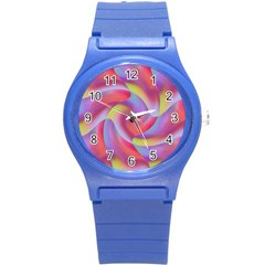 Colored Swirls Plastic Sport Watch (small) by Colorfulart23
