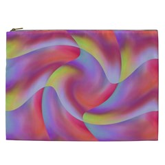 Colored Swirls Cosmetic Bag (XXL) by Colorfulart23