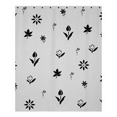 Natural Design (b&w) Shower Curtain 60  X 72  (medium) by Contest1624349
