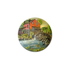 Daniels Mill   Ave Hurley   Golf Ball Marker by ArtRave2