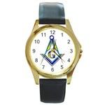 S-C GMOTMS Round Gold Metal Watch