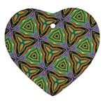 Elegant Retro Art Heart Ornament