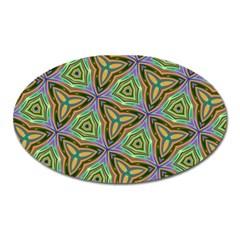 Elegant Retro Art Magnet (Oval) by Colorfulart23