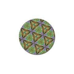Elegant Retro Art Golf Ball Marker by Colorfulart23