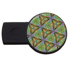 Elegant Retro Art 4gb Usb Flash Drive (round) by Colorfulart23