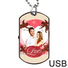 Love By Ki Ki   Dog Tag Usb Flash (two Sides)   Zeemw1k3cj04   Www Artscow Com Front