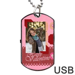 Love By Ki Ki   Dog Tag Usb Flash (two Sides)   V3ddvpdu8617   Www Artscow Com Front