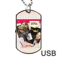 Love By Ki Ki   Dog Tag Usb Flash (two Sides)   4f458blvgmgi   Www Artscow Com Front