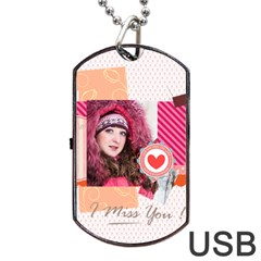 Love By Ki Ki   Dog Tag Usb Flash (two Sides)   3r9ldmnt8krt   Www Artscow Com Front