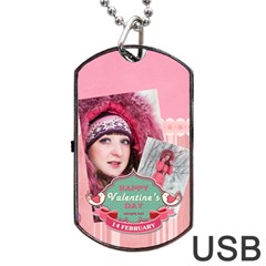 Love By Ki Ki   Dog Tag Usb Flash (two Sides)   3nhw8qvu80rb   Www Artscow Com Front
