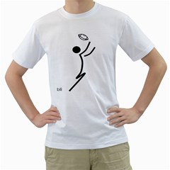 Cowcow Football Black Men s T Shirt (white)