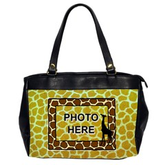 Giraffe Oversize Office Bag By Joy Johns   Oversize Office Handbag (2 Sides)   Bi94elgw2fsm   Www Artscow Com Front